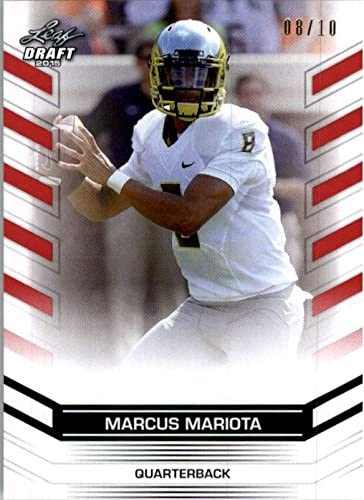 MARCUS MARIOTA #2 2015 Leaf NFL Draft Rookie RED Football 8/10 His JERSEY #!
