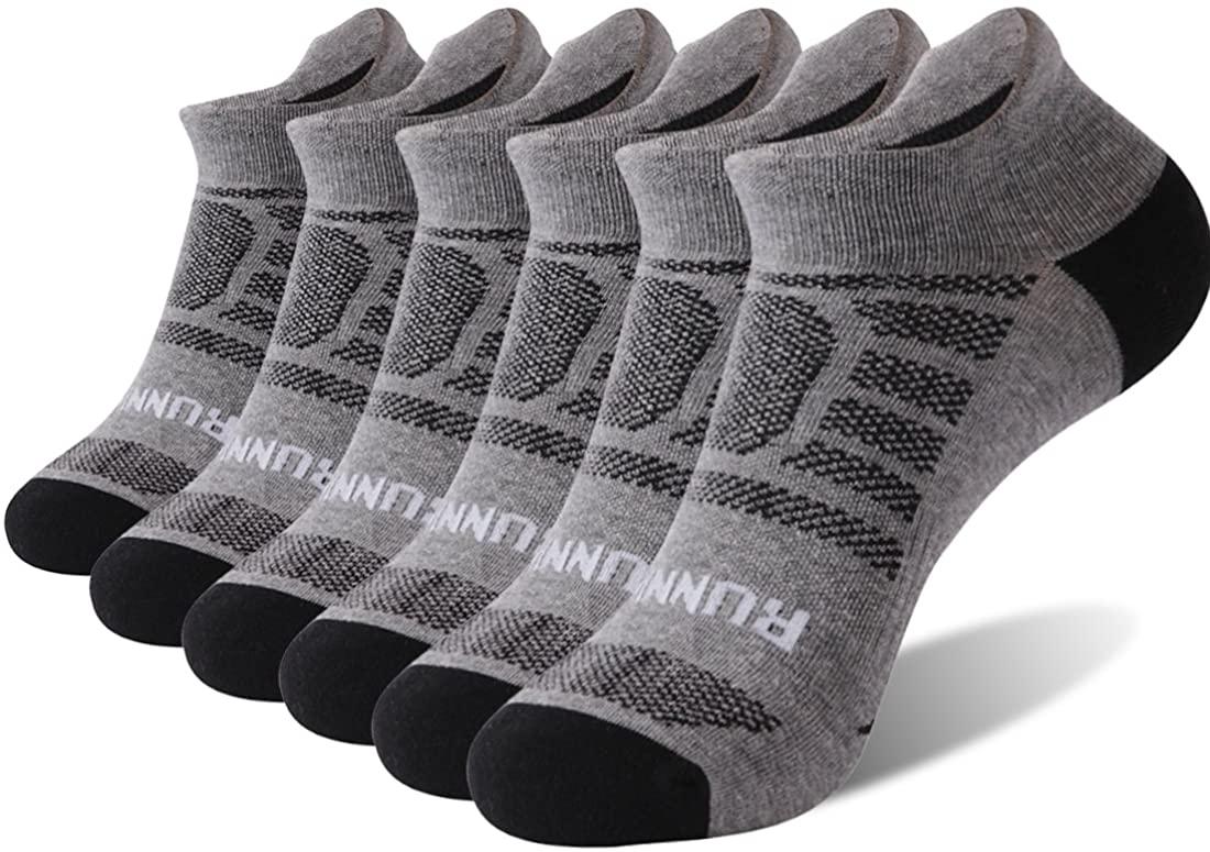 Work Socks for Men Boot,6 Pack Running No Show Socks, Socks Daze Mens Womens High Performance Cushion Tab Low Cut Athletic Socks