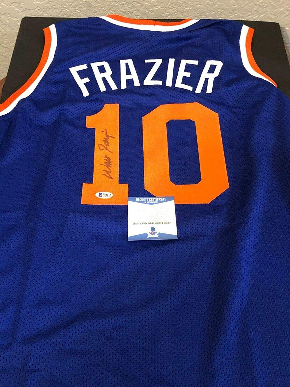 Walt Frazier Signed Jersey - HOF Custom BAS Beckett COA - Beckett Authentication - Autographed NBA Jerseys