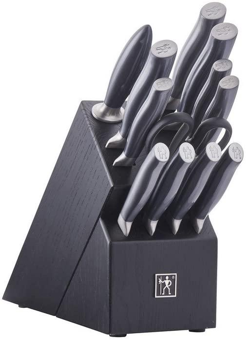 HENCKELS Knife Block Set, 13-pc, Black/Stainless