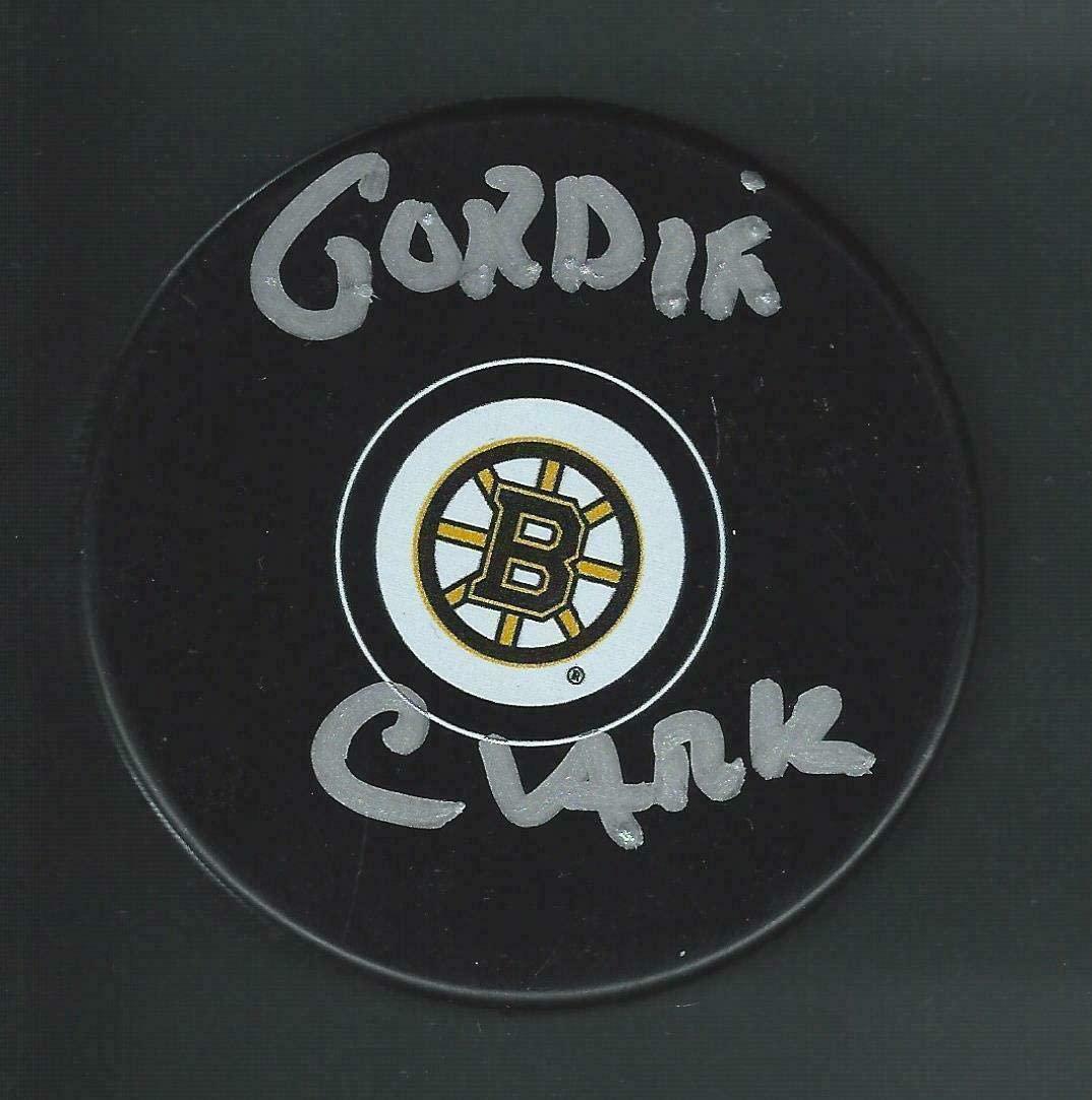 Gordie Clark Autographed Puck - Autographed NHL Pucks