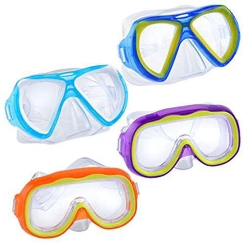 Safety First Splash-N-Swim Child-Sized Swim Masks Goggles Assortment! (Set of 4)