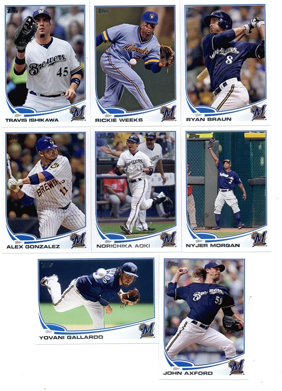 2013 Topps Baseball Milwaukee Brewers Master Team Set (Series 1, Series 2 plus Update Series) - 28 Cards!