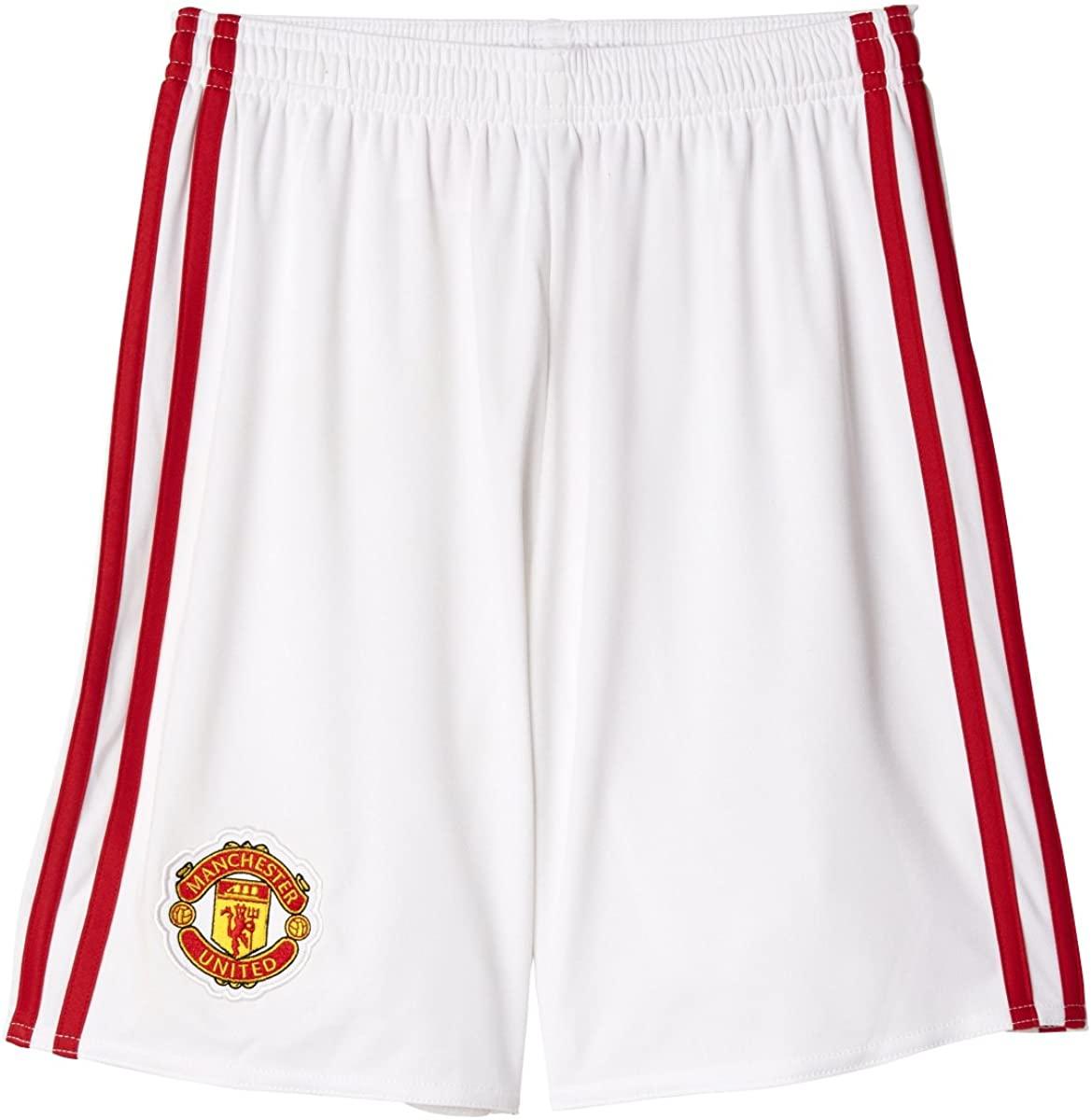 adidas Manchester United FC Boys Home Replica Soccer Shorts
