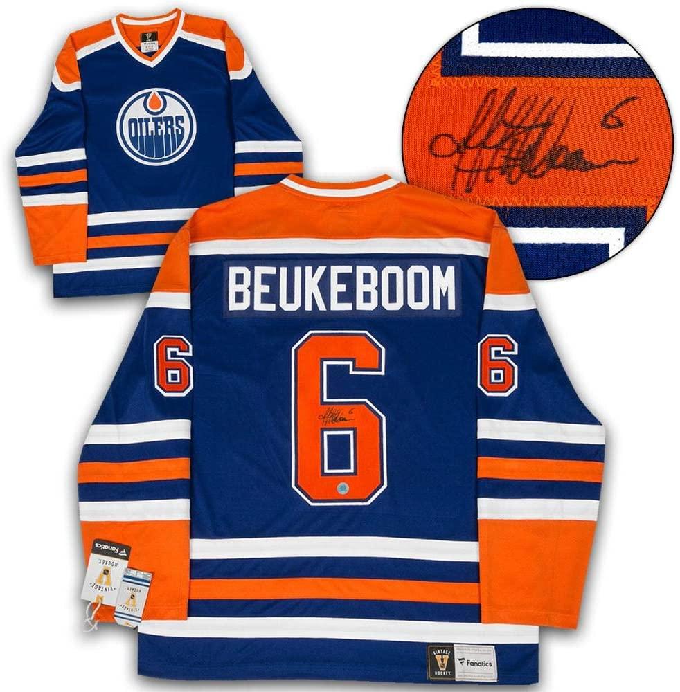 Autographed Jeff Beukeboom Jersey - Blue Fanatics Vintage - Autographed NHL Jerseys