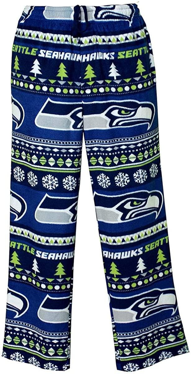 Concepts Sport Men's Seattle Seahawks Guys Winter Fleece Lounge Pants (X-Large)