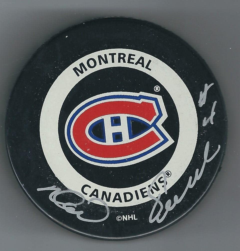 Noel Picard Signed Hockey Puck - Autographed NHL Pucks