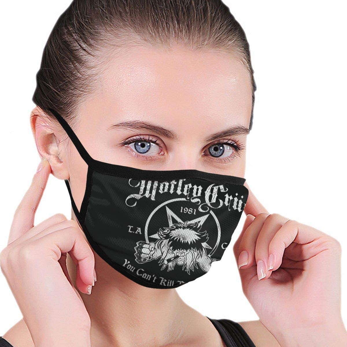 Zhengyu Motley Crue Face Mouth Protect Comfy Breathable Safety Air Fog Outdoor Fashion Half Face Face Protections - for Man and Woman