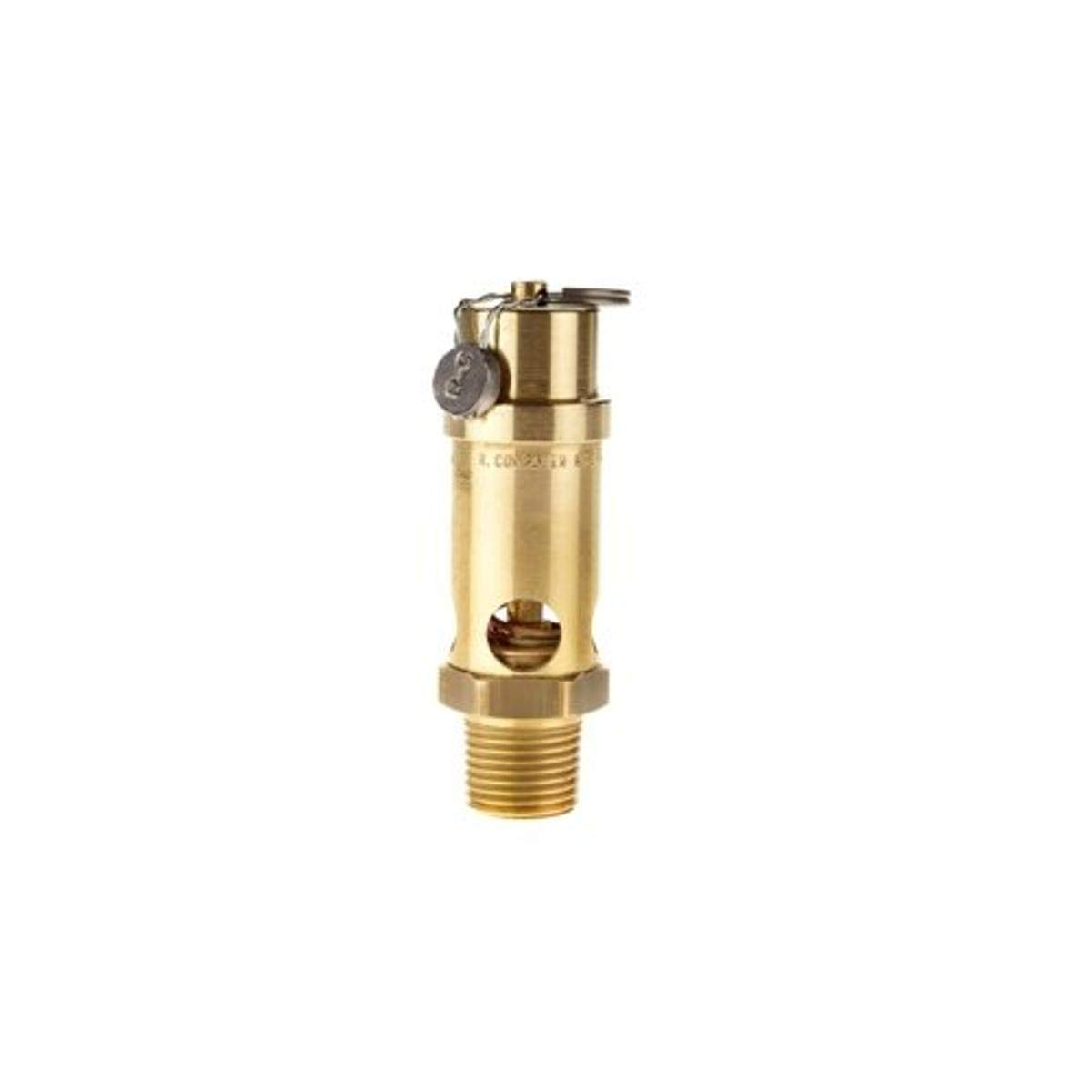 Midwest Control SRV530-50-150 ASME Soft Seat Safety Valve, 150 psi, -65 Degree Fahrenheit - 400 Degree Fahrenheit Temperature Range, 3.66 Height, 1/2