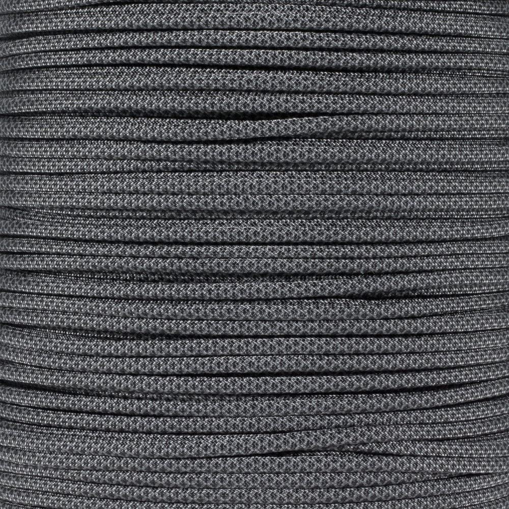 PARACORD PLANET 10 20 25 50 100 Foot Hanks and 250 1000 Foot Spools of Parachute 550 Cord Type III 7 Strand Paracord (Charcoal w/Black Diamonds 250 Foot Spool)