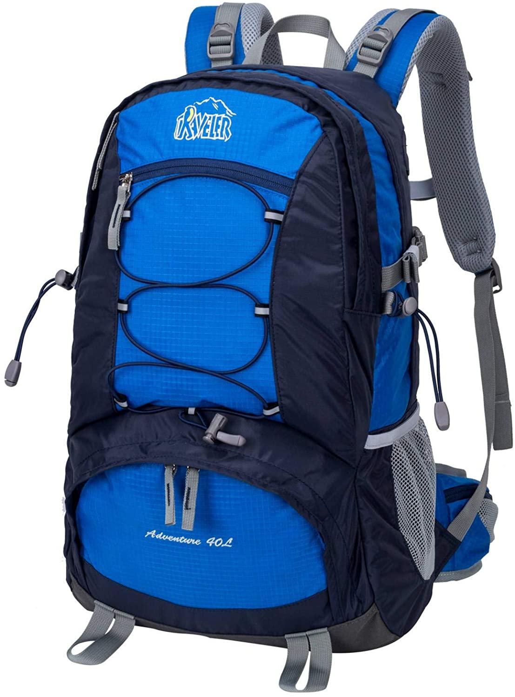 Aveler 40L Unisex Versatile Lightweight Nylon High Performance Hiking Backpack With Integrated Rain Cover