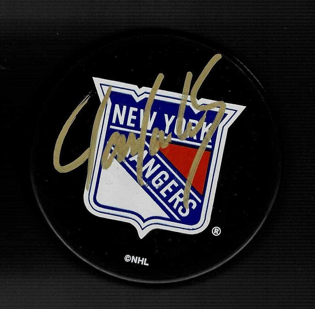 Jamie Lundmark Autographed Puck - Ranger Souvenir - Autographed NHL Pucks