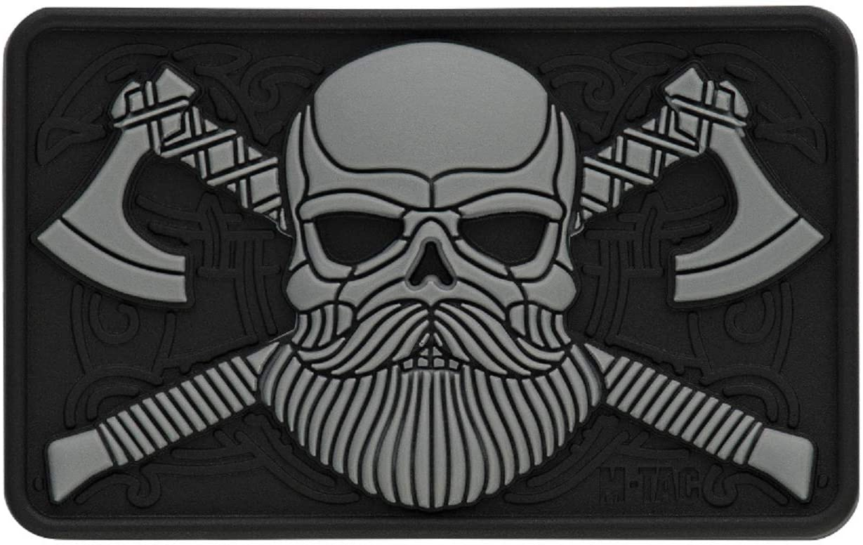 M-Tac Morale Patch Beard Skull Tactical Patches 3D PVC Hook Fasteners