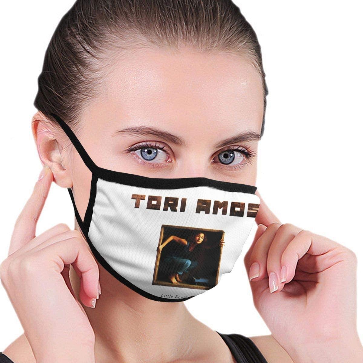 Qwtykeertyi Tori Amos Fashion Protective Reusable Unisex Black Cotton Washable Balaclava