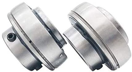 Liyafy UC205-UC200 Series Insert Bearing Relubricable Chrome Steel Set Screw Locking Collar Single Lip Seal 2Pcs
