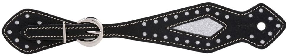 Metalab Adult Leather Diamond Western Spur Straps Black