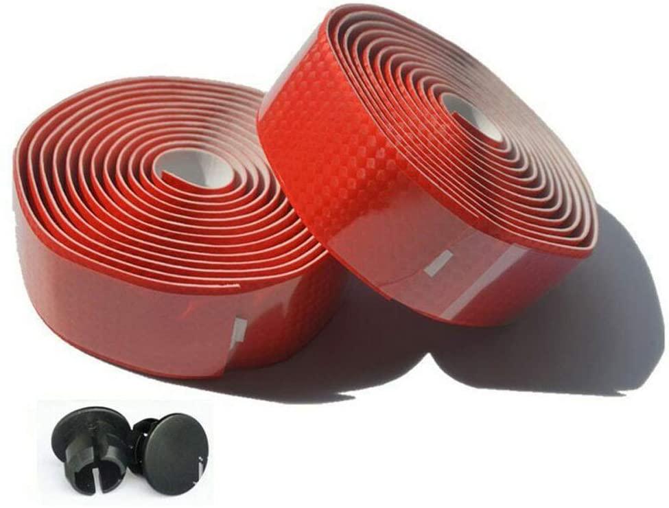 JIMAITEAM Carbon Fiber PU Leather Road Bike Handlebar Tape Bar Tapes - 2PCS Per Set