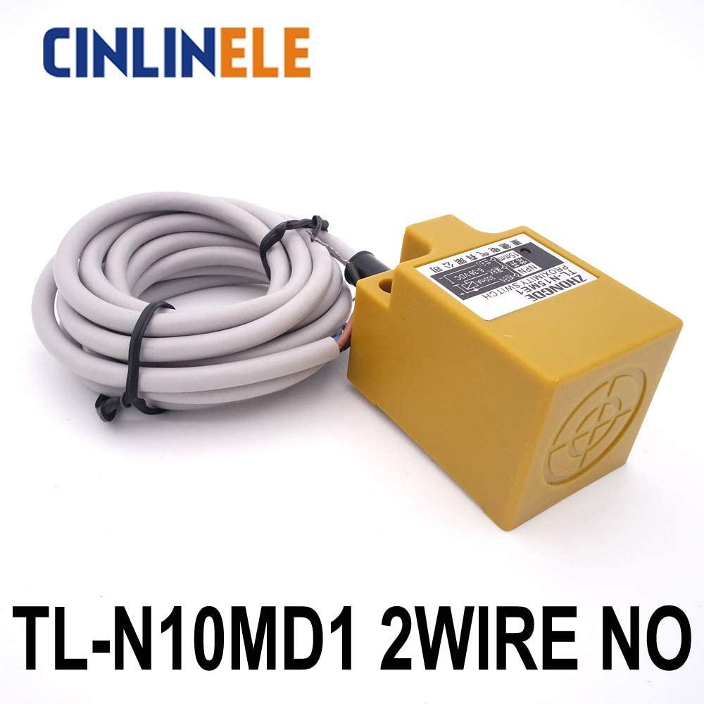 TL-N10MD1 10mm Sensing DC 2-Wire NO Cube Shell inductive Screen Shield Metal Proximity Switch TL-N10M Proximity Sensor 181836