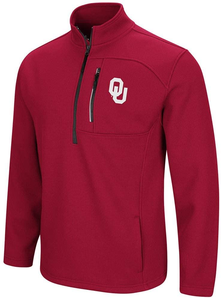 Colosseum Oklahoma Sooners Townie 1/2 Zip Pullover Jacket