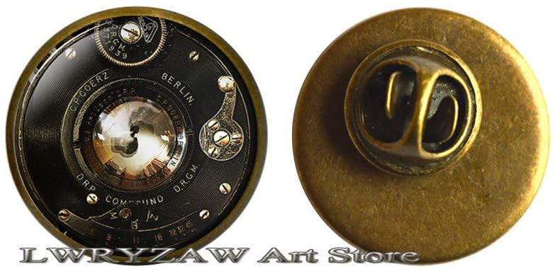 Camera Brooch, Camera Lens Pin, Old Camera Brooch, Art Gifts, for Men, for Women,Photography Jewelry,M335