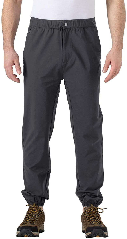 Rdruko Men's Outdoor Hiking Pants Quick Dry Lightweight Fishing Travel Climbing Work Pants 4 Pockets