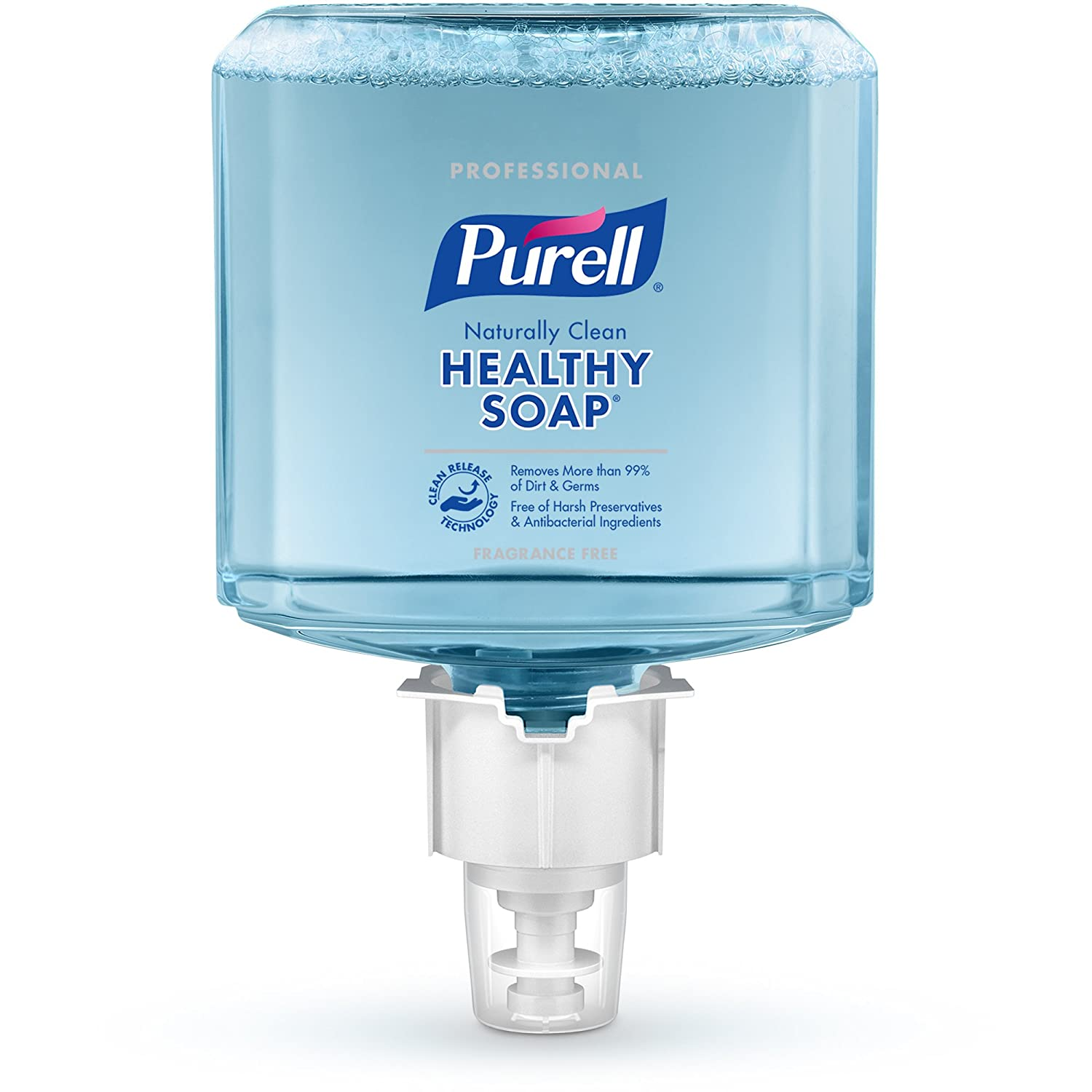 PURELL ES6 Professional HEALTHY SOAP Naturally Clean Foam Refill, Fragrance Free, 1200 mL EcoLogo Certified Soap Refill for PURELL ES6 Touch-Free Dispenser (Pack of 2) - 6470-02,Blue