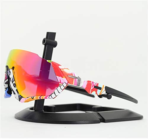 YSDJJ Outdoor Sport Sunglasses Cycling Glasses for Men Women Mountain Bike MTB Bicycle Glasses TR90 Frame Bike Oculos Ciclismo Transparent-3lens 940115