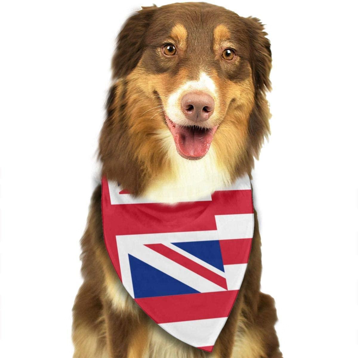 Fengyaojianzhu Flag of Hawaii Dog Bandana Collars Triangle Neckerchief Bibs Scarfs Accessories Pet Cats and Baby Puppies Saliva Towel