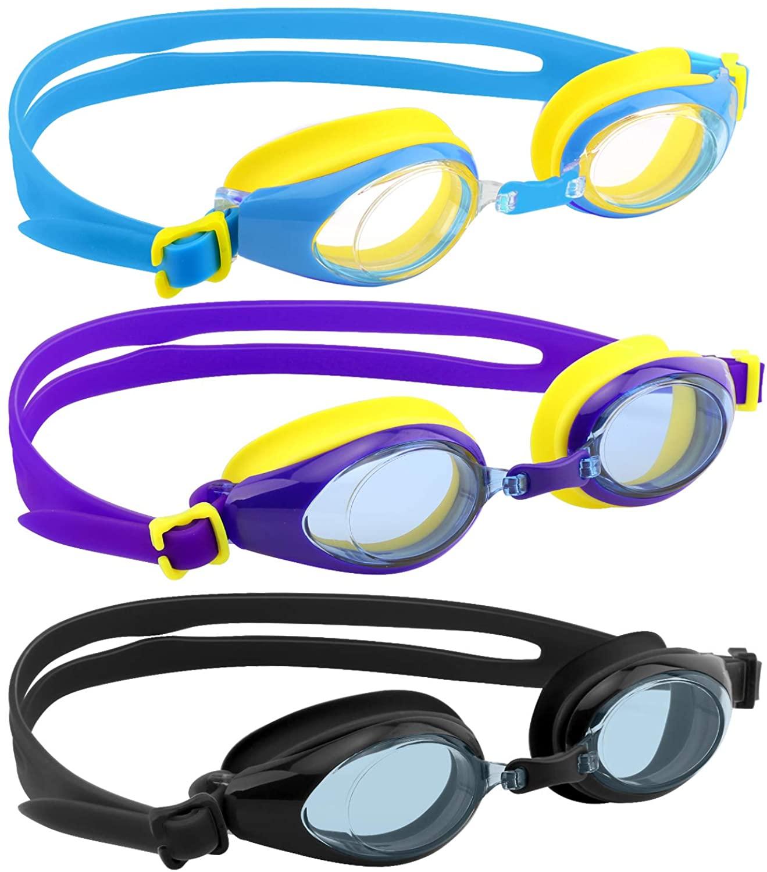 HeySplash Swim Goggles for Kids, 3 Pack No Leaking Swim Goggles for Teenagers