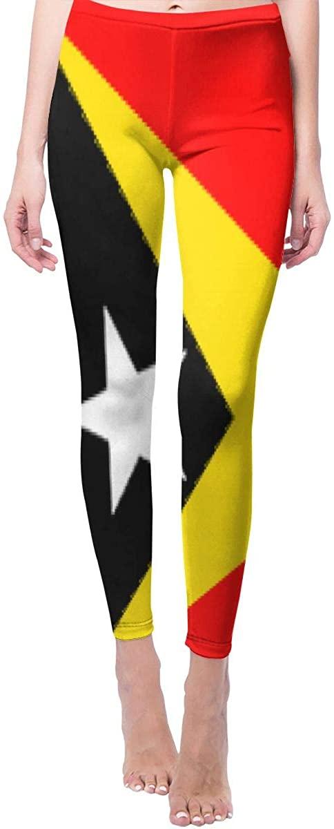 Ruin Yoga Pants East Timor Flag High Waist Skinny Leggings Sweatpants