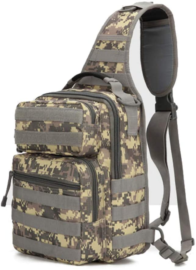 Outdoor Sports Hiking Sling Bag Shoulder Pack Camouflage Tactical Molle Chest Bag