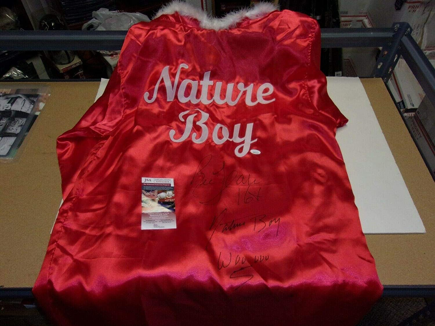 Ric Flair Nature Boy 16x,hof!,wooooo coa Signed Wrestling Championship Robe - JSA Certified - Autographed Wrestling Robes, Trunks and Belts