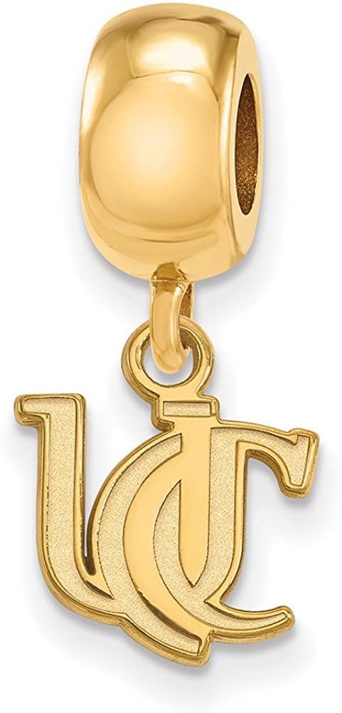 Logoart Sterling Silver Gp University Of Cincinnati Bead Charm Extra Small Dangle