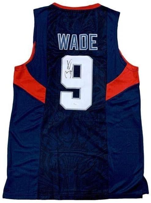 Autographed Dwyane Wade Jersey - 2008 Olympics - JSA Certified - Autographed NBA Jerseys