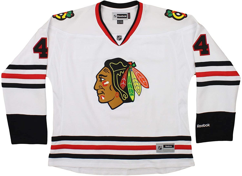 Reebok NHL Youth Boys Chicago Blackhawks Niklas Hjalmarsson #4 Jersey, White, XX-Large