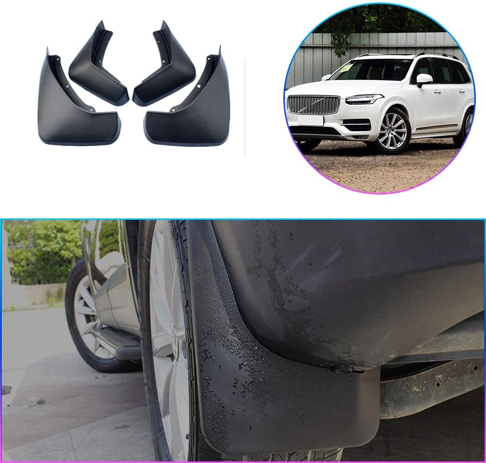 Maiqiken Car Custom Mud Flaps Splash Guards for Volvo XC90 2008-2014, 2015-2017 Auto Mud Guards Automotive Splash Guards Mudguards Mudflaps Fender Front & Rear Wheel 4Pcs