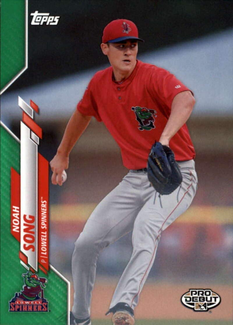 2020 Topps Pro Debut Minors Baseball Green #PD-42 Noah Song S99 Lowell Spinners Official MILB Trading Card