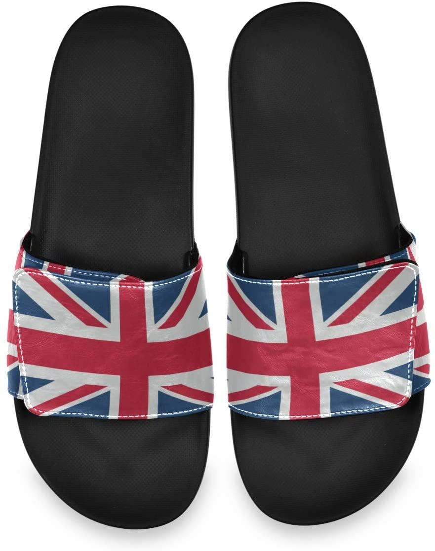 Vintage Union Jack British Flag Retro Mens Summer Sandals Slide House Adjustable Slippers Indoor Boys
