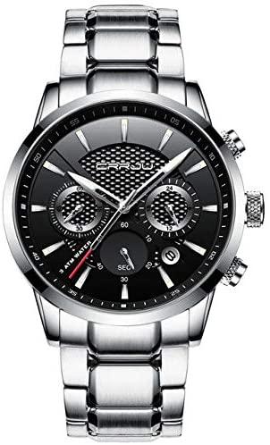 CRRJU CRRJU Waterproof Calendar Mens Watches Fashion Stainless Steel Strap Quartz Watches Online