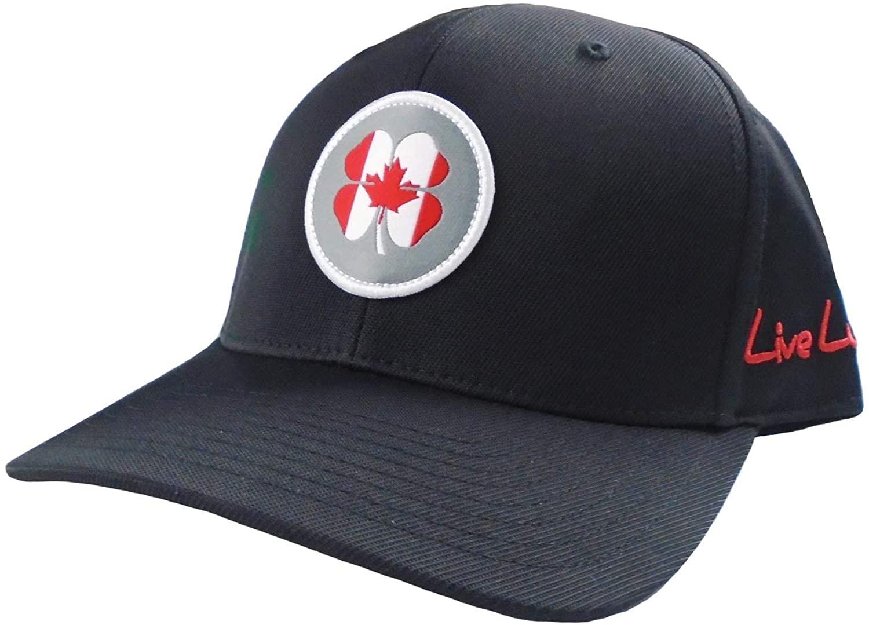 Black Clover New Live Lucky Canada Flag Nation Black Adjustable Hat/Cap
