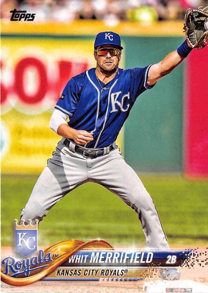 2018 Topps #304 Whit Merrifield Kansas City Royals Baseball Card