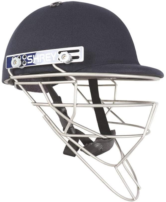 WHITEDOT SPORTS Shrey Pro Guard Fielding Stainless Steel Visor Cricket Helmet Size Small