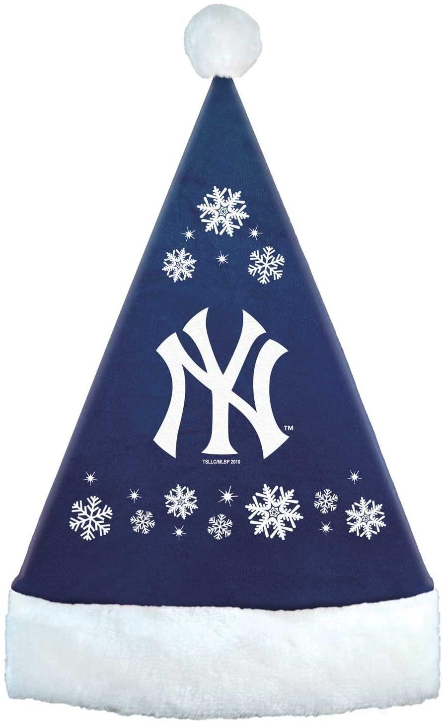 MLB New York Yankees Snowflake Santa Hat