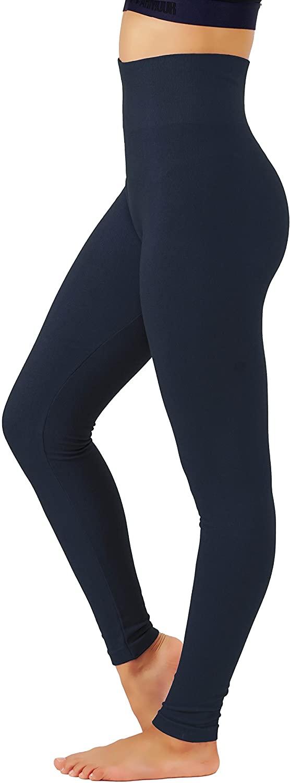 KVKSEA Women's High Waist Cotton-Spandex Yoga Pants Workout Leggings