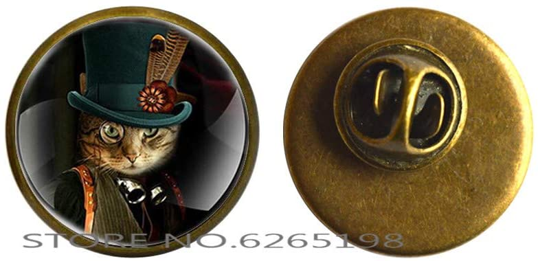 Cat Pin, Cat Jewelry, Cat Brooch, Cat Pin Jewelry,Cat Lovers Gift Cat Parents Gift,N022