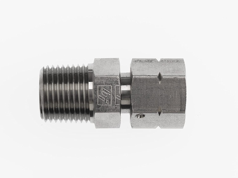 Brennan Industries 1404-04-08 Steel Straight Adapter, 1/4