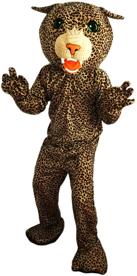 Leopard Panther Mascot Costume Cartoon Character Adult Sz Real Picture