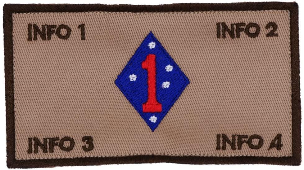 TacticalStitches.com Flak Identification Patch/Tag 1st MAR DIV (V2)