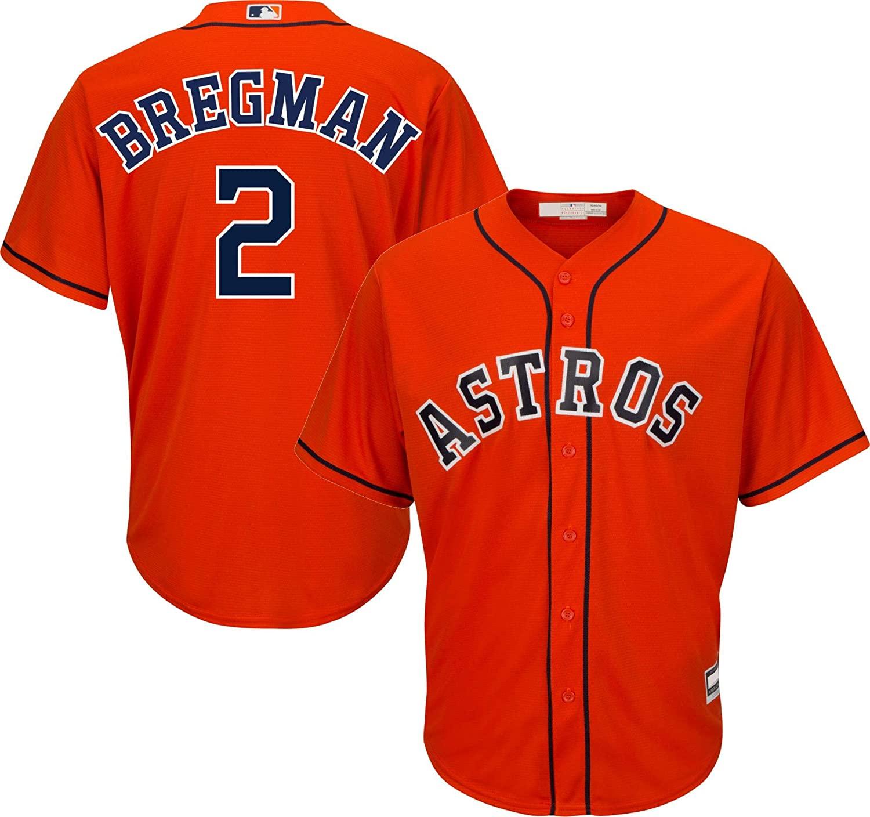 Outerstuff Alex Bregman Houstn Astros MLB Boys Youth 8-20 Player Jersey (Orange Alternate, Youth Small 8)