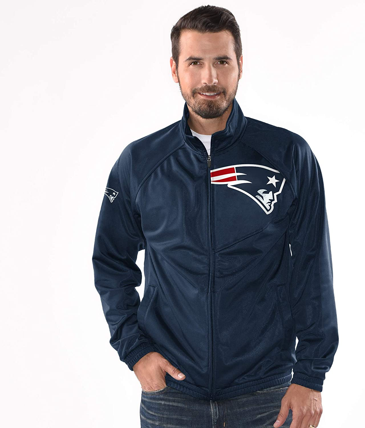 New England Patriots Synergy Track Jacket - Navy Blue by G-III